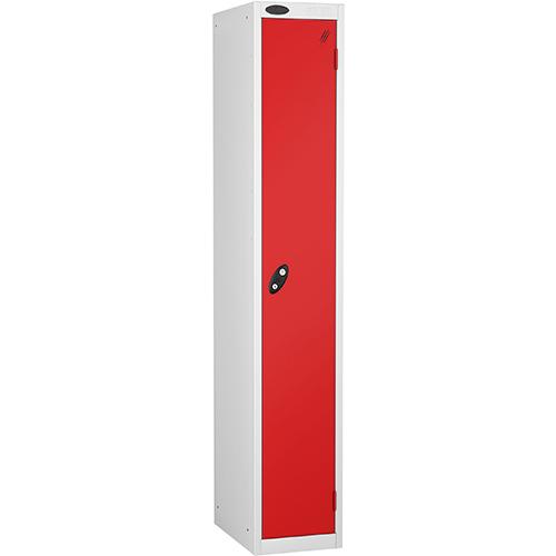 1 Door Locker D305mm White Body &Red Door