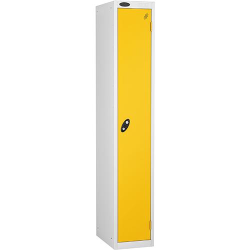 1 Door Locker D305mm White Body &Yellow Door