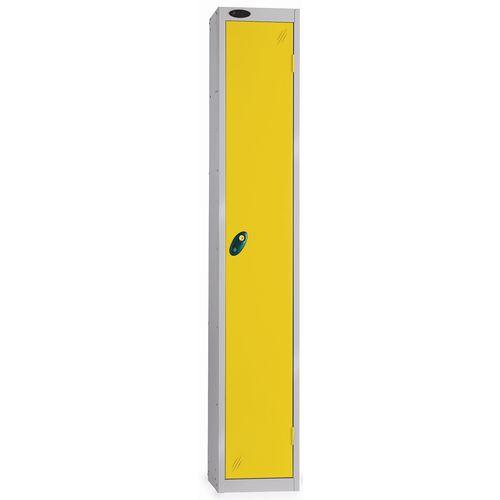 1 Door Locker D457mm Silver Body &Yellow Door