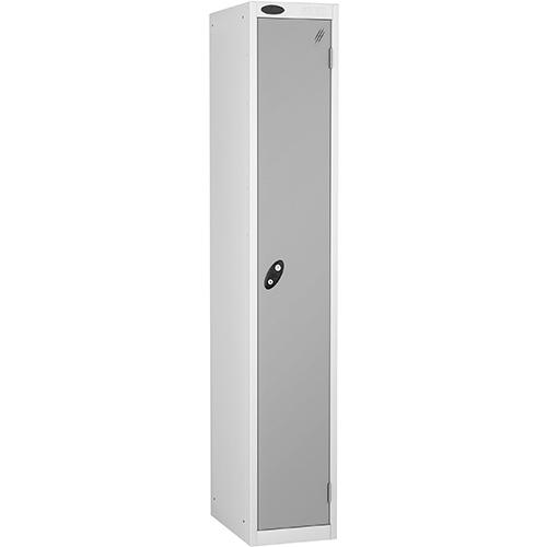 1 Door Locker D457mm White Body &Silver Door