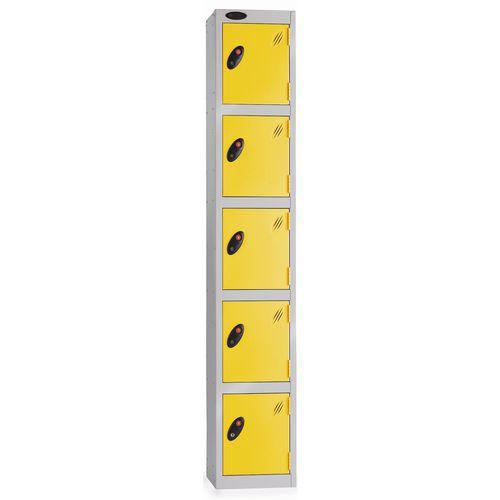 5 Door Locker D:457mm Silver Body &Yellow Door
