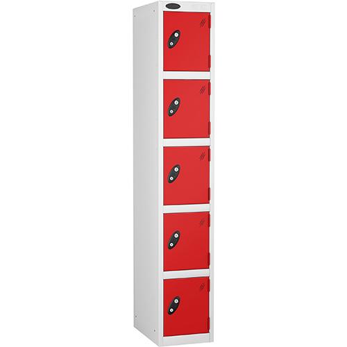 5 Door Locker D:457mm White Body &Red Door