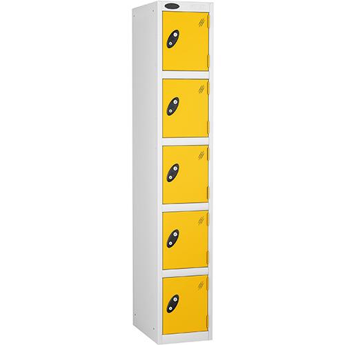 5 Door Locker D:457mm White Body &Yellow Door