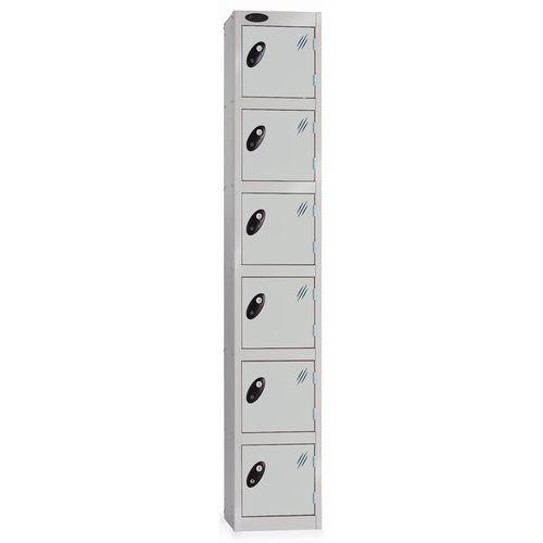 6 Door Locker D:457mm Silver Body &Silver Door