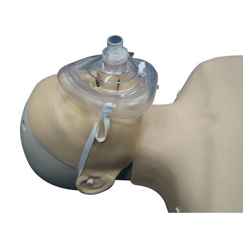 Resuscitator Face CPR Mask Pocket with Oxygen Inlet