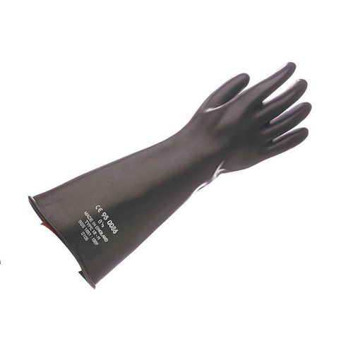 Gauntlet-Black Rubber 42.5Cm Size 7.5 Pack of 2 Pairs
