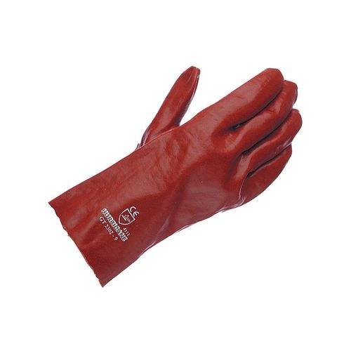 Gauntlet Red Pvc 27Cm Size 9.5 Pack of 10 Pairs