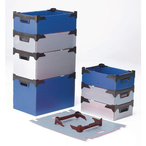 Bins Tote Plastic Storage Blue HxWxL mm: 125x255x375 Pack of 10