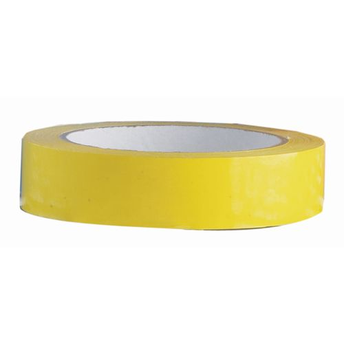 Tape  Coloured Vinyl Yellow W:12mm  12 Rolls Carton