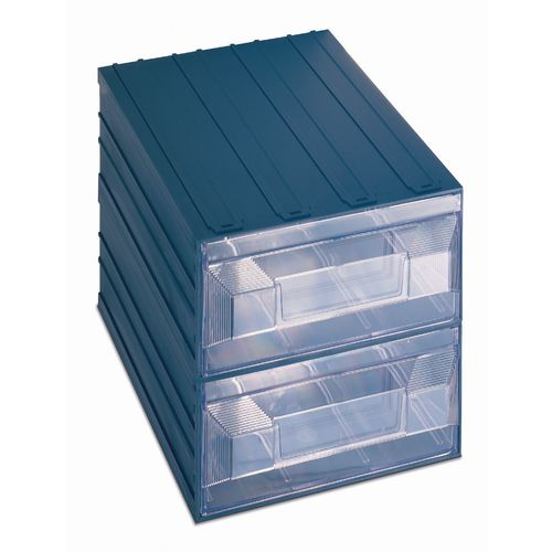 Drawer Unit Interlocking 2 Drawers