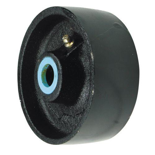 Wheel Cast Iron 100mm Dia Plain Bearing