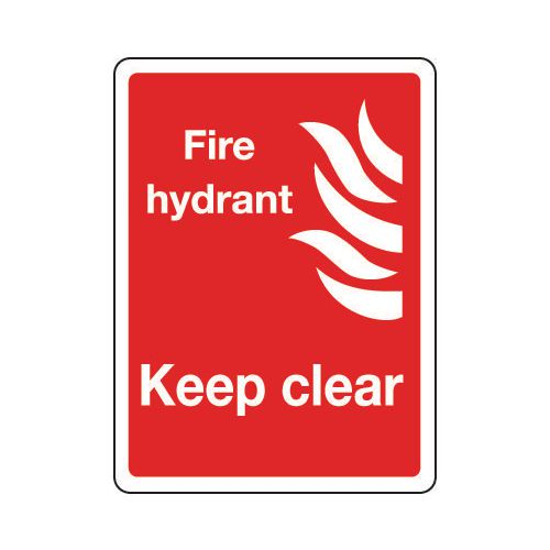 Sign Fire Hydrant Keep Clear 150x200 Vinyl