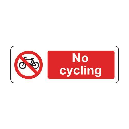 Sign No Cycling 600x200 Vinyl