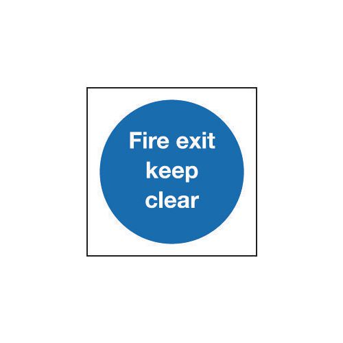 Sign Fire Exit Keep Clear 200x200 Vinyl