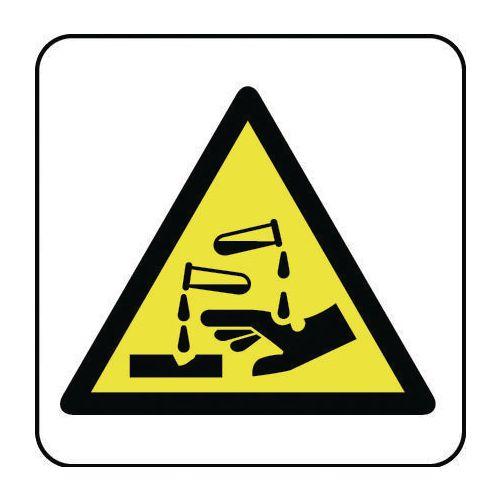 Sign Chemical Hazard Pic 100x100 Vinyl