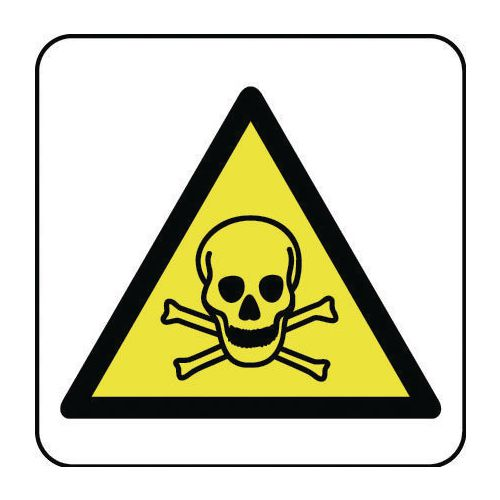 Sign Toxic Hazard Pictorial 400x400 Vinyl
