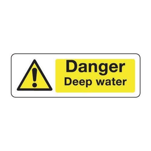 Sign Danger Deep Water 400x600 Vinyl