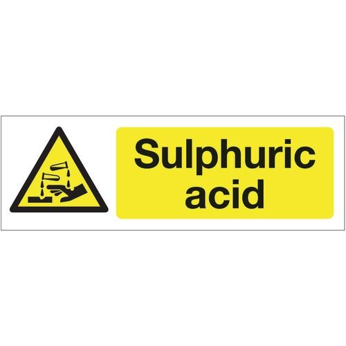 Sign Sulphuric Acid 600x200 Vinyl