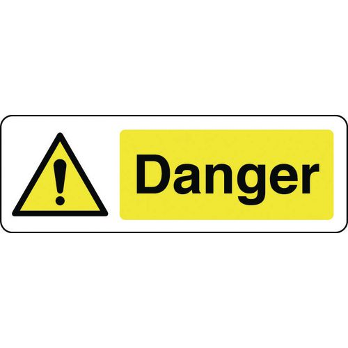 Sign Danger 600x200 Vinyl