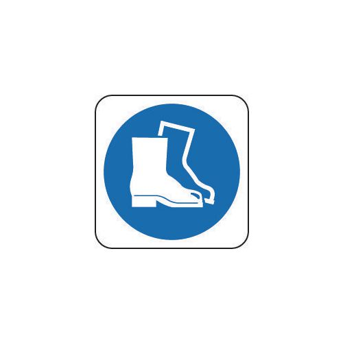 Sign Safety Footwear Pic 100x100 Vinyl