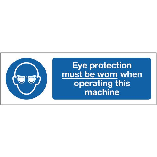 Sign Eye Protection Must Be 600x200 Vinyl