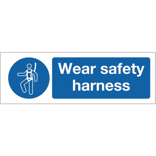 Sign Wear Safety Harness 600x200 Vinyl
