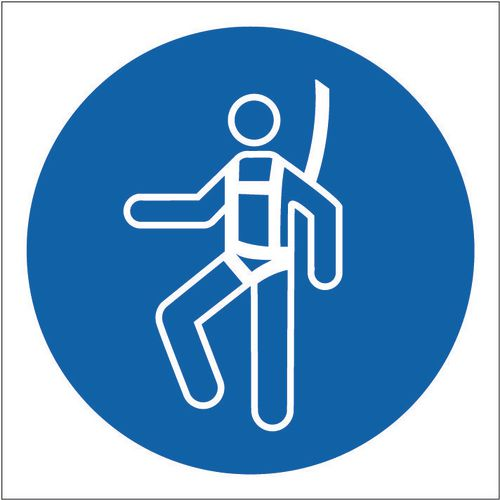 Sign Safety Harness Pic 100x100 Vinyl