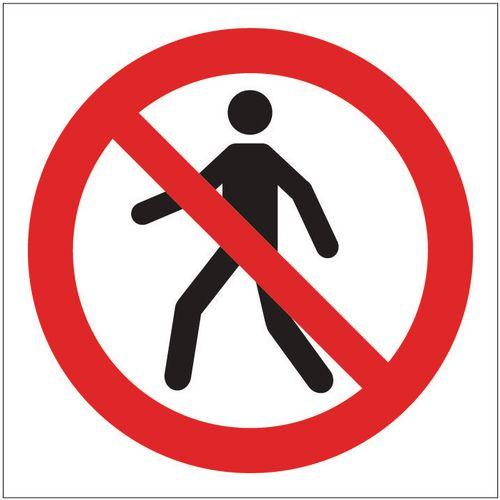 Sign No Unauthorised Access Pictorial 100x100 Vinyl