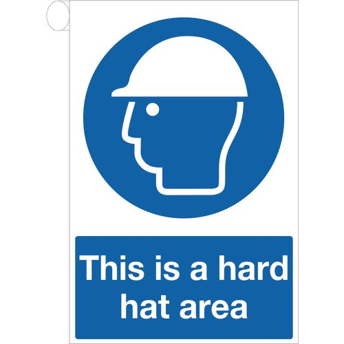 Sign This Is A Hard Hat Area 400x600 Vinyl
