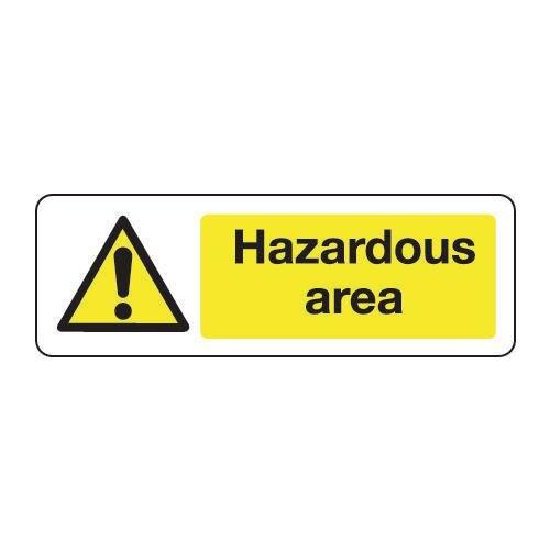Sign Hazardous Area 600x200 Vinyl