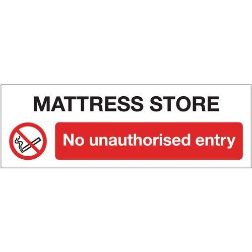 Sign Mattress Store No 600x200 Vinyl