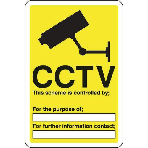 Sign Cctv This Scheme Is Controlled 300x400 Vinyl