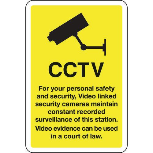 Sign Cctv For Your Personal Safety And Security 200x300 Vinyl