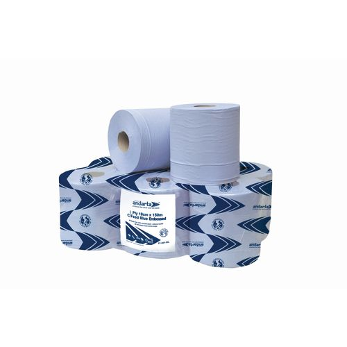 Advanced Wiper 415 1-Ply 300m Blue Centrefeed Roll Pack of 6