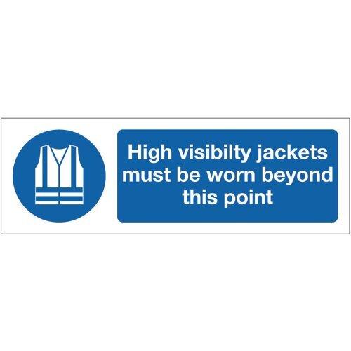 Sign High Visibility Jackets 600x200 Vinyl