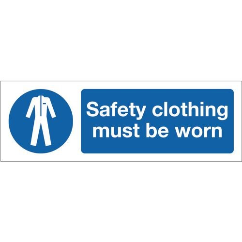 Sign Safety Clothing Must Be Worn 600x200 Vinyl
