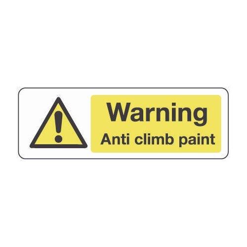 Sign Warning Anti Climb Paint 600x200 Vinyl