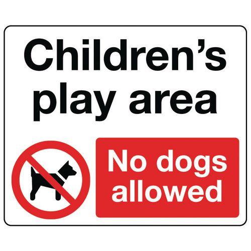 Sign Childrens Play Area 300x250 Vinyl