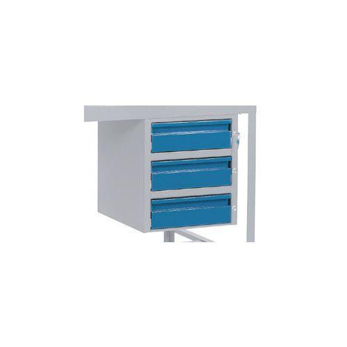 Triple Drawer Blue