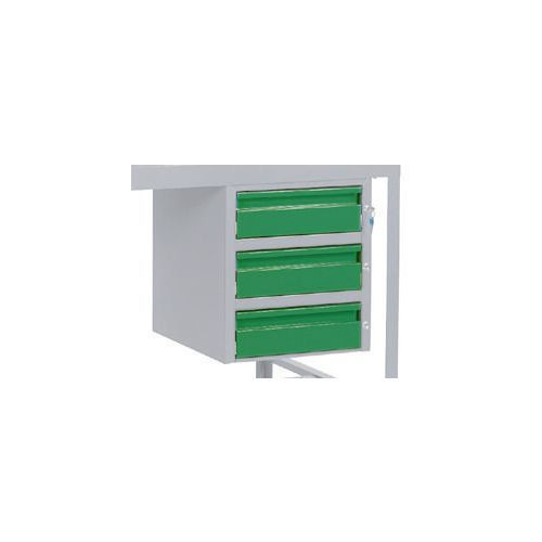 Triple Drawer Green