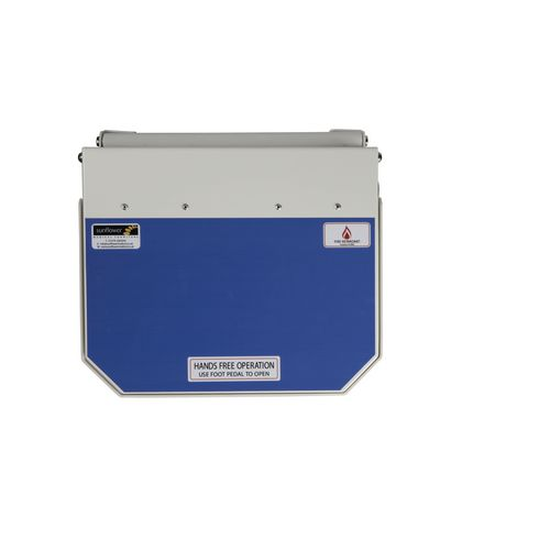 20L Flame Retadant Waste Bin With Blue Lid User Defined