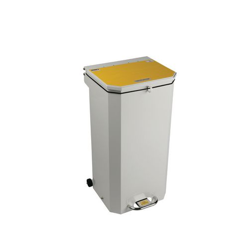 20L Flame Retadant Waste Bin With Yellow Lid Waste For Incineration Formerly Clinical