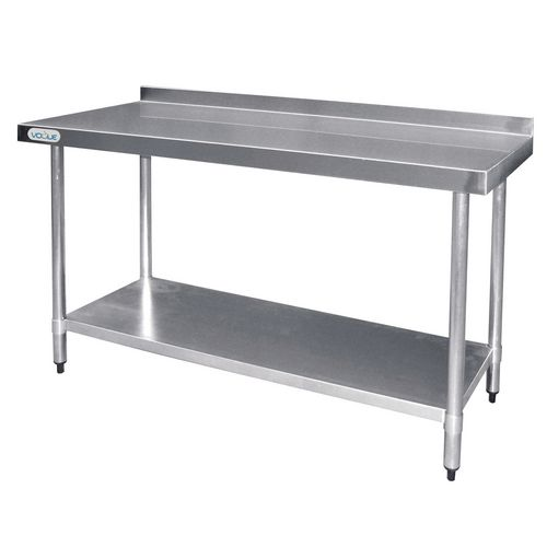 Stainless Steel Top Preparation Table With 60mm Upstand HxWxL mm: 900x600x1800