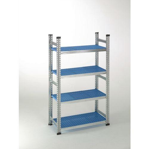 Simply Super Starter Bay Blue Plastic Shelves