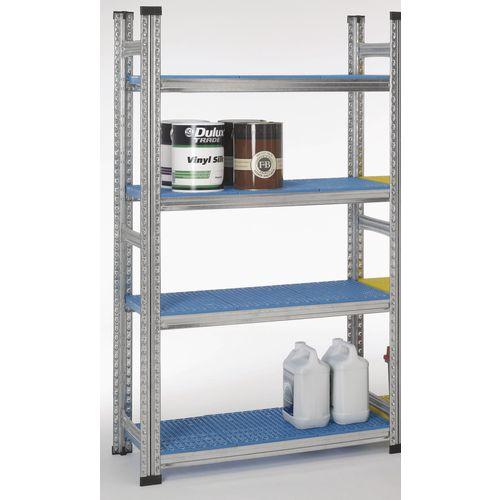 Simply Super Extension Bay Blue Plastic Shelves