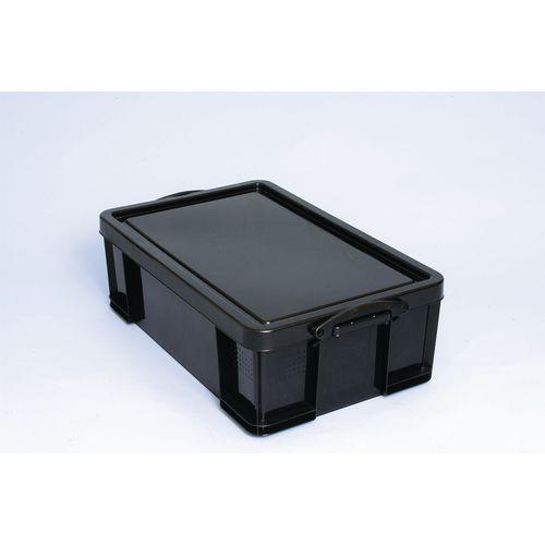 Really Useful Box 50L Black Polypropylene 100% Recycled Box