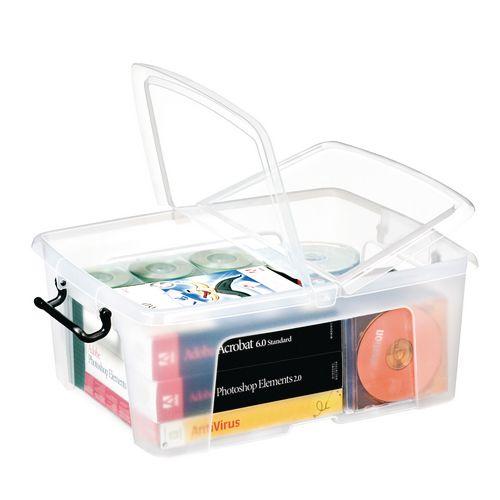 Strata Smart Box - 24L Transparent Boxes with Secure Folding Lids
