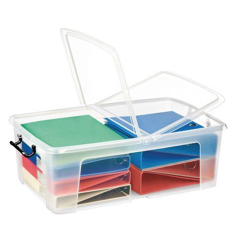 Strata Smart Box 50L - Transparent Boxes with Secure Folding Lids