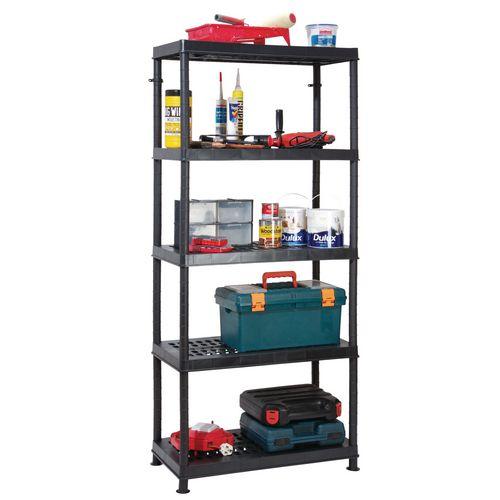 5 Tier Plastic Storage Shelf 800x400 With Ventilated Shelves