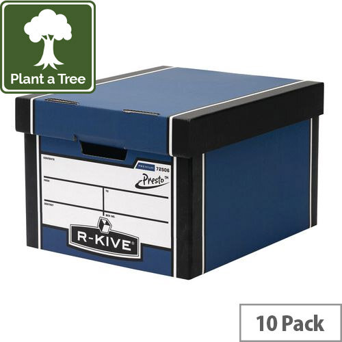 Premium Classic Storage Box Blue HxWxD mm: 257x340x400